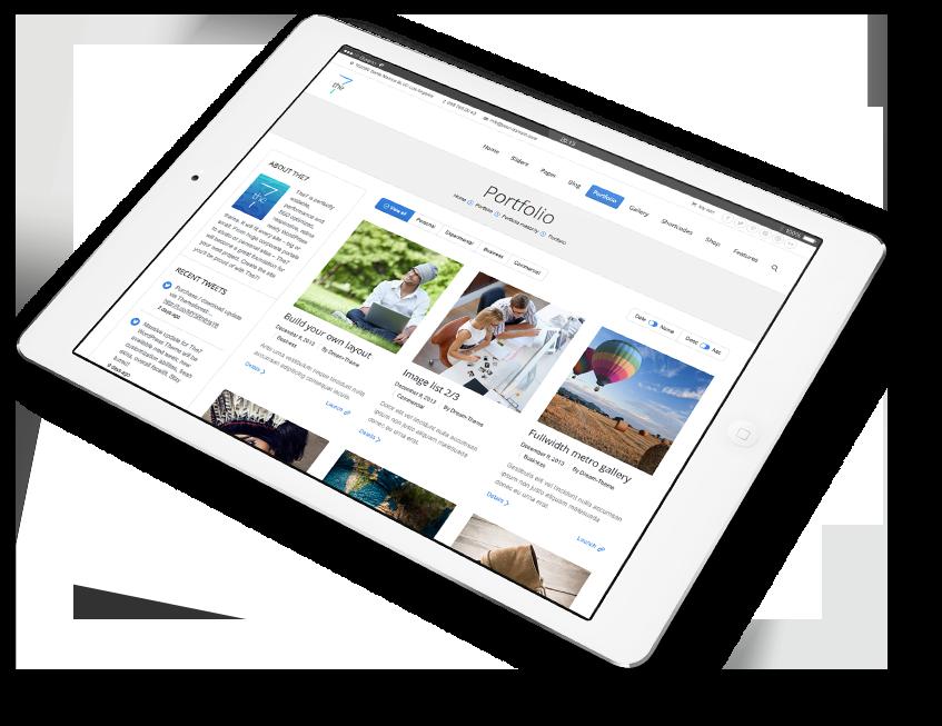 web responsive tablet