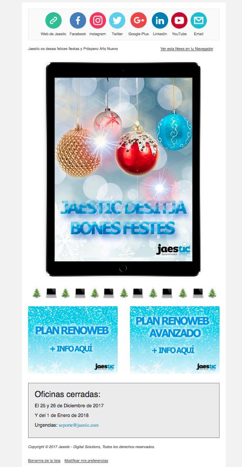 ¡Jaestic os desea Feliz Navidad!