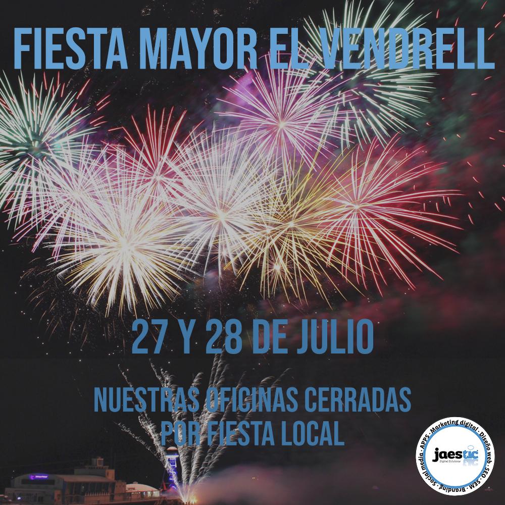 27 Y 28 DE JULIO CERRADO POR FESTIVIDAD LOCAL